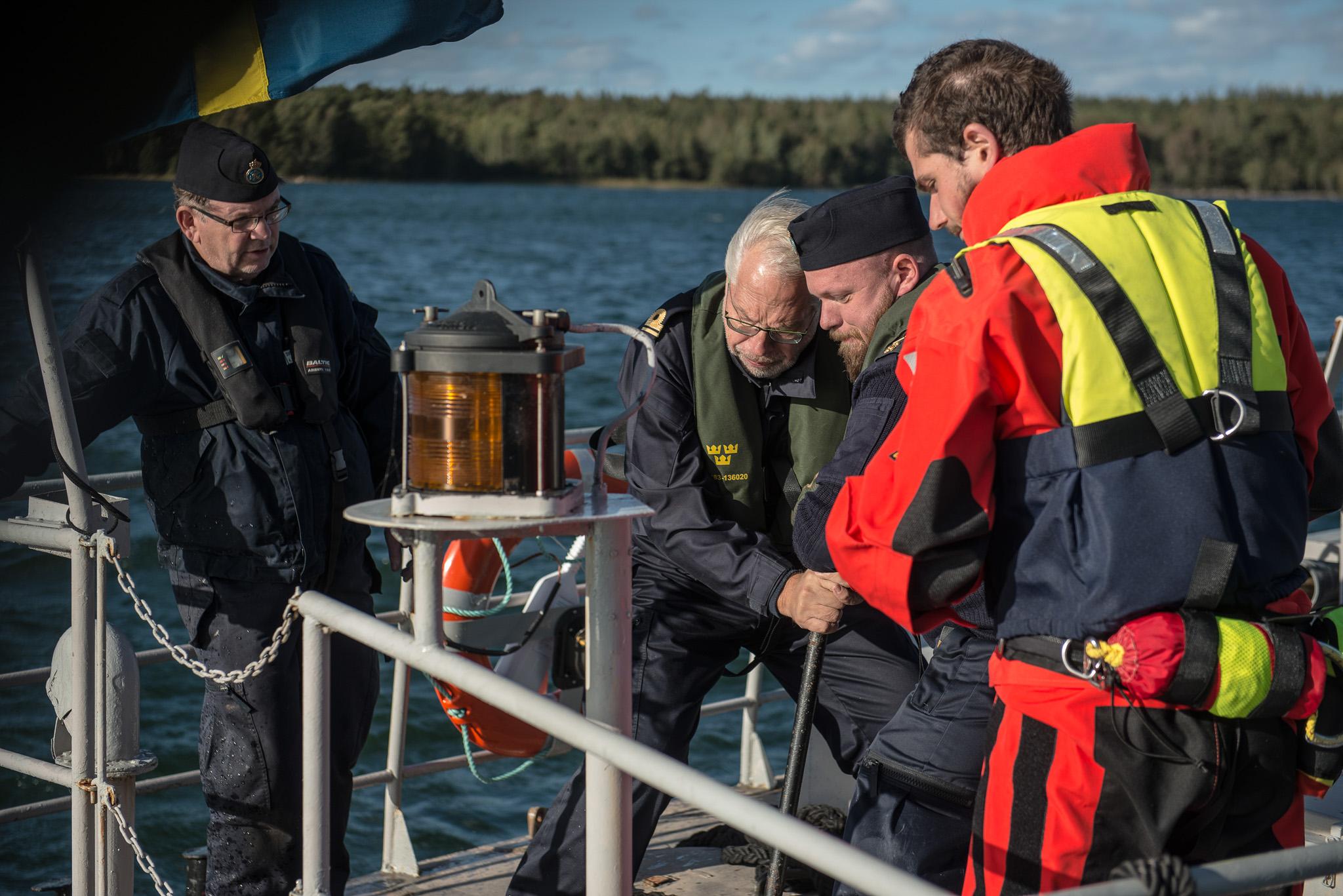 Samverkan mellan Sjövärnskåren och Sjöräddningssällskapet (SSRS) under krisövning SIRI 2018.